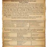 Transcript from the Original Petition to form The Lodge of Unity