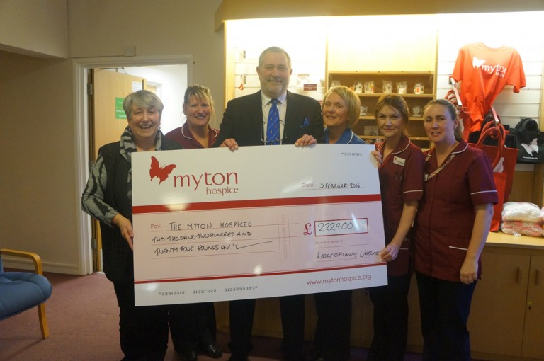 The Lodge Continues To Support Myton Hospices